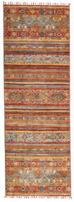 Shabargan Matto 84X243 Moderni Käsinsolmittu Käytävämatto Vaaleanruskea/Ruskea (Villa, Afganistan)