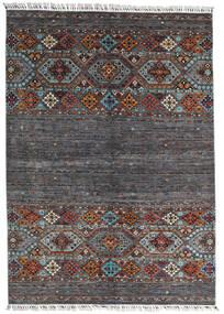Shabargan Matto 177X247 Moderni Käsinsolmittu Musta/Tummanruskea (Villa, Afganistan)