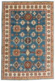 Kazak Matto 198X301 Itämainen Käsinsolmittu Tummansininen/Tummanbeige (Villa, Afganistan)