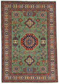 Kazak Matto 197X289 Itämainen Käsinsolmittu Oliivinvihreä/Musta (Villa, Afganistan)