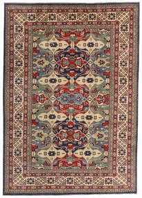 Kazak Matto 200X282 Itämainen Käsinsolmittu Tummanpunainen/Tummanharmaa (Villa, Afganistan)
