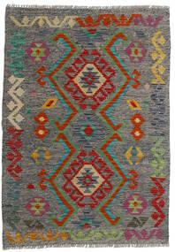 Kelim Afghan Old Style Matto 82X115 Itämainen Käsinkudottu Tummanharmaa/Oliivinvihreä (Villa, Afganistan)