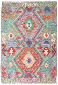 Kelim Afghan Old Style Matto 86X124 Itämainen Käsinkudottu Vaaleanharmaa (Villa, Afganistan)