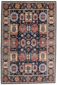 Kazak Matto 199X293 Itämainen Käsinsolmittu Tummansininen/Tummanharmaa (Villa, Afganistan)