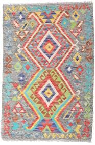 Kelim Afghan Old Style Matto 81X122 Itämainen Käsinkudottu Vaaleanharmaa (Villa, Afganistan)