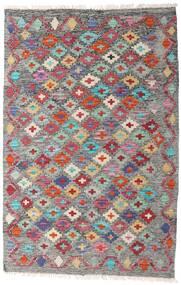 Kelim Afghan Old Style Matto 81X124 Itämainen Käsinkudottu Tummanharmaa/Vaaleanharmaa (Villa, Afganistan)