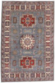 Kazak Matto 195X292 Itämainen Käsinsolmittu Vaaleanharmaa/Tummanpunainen (Villa, Afganistan)