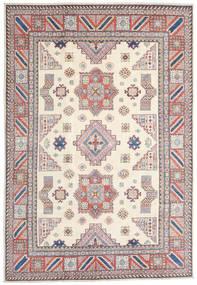 Kazak Matto 211X306 Itämainen Käsinsolmittu Beige/Vaaleanharmaa (Villa, Afganistan)