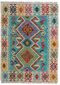 Kelim Afghan Old Style Matto 84X118 Itämainen Käsinkudottu Vaaleanharmaa/Siniturkoosi (Villa, Afganistan)