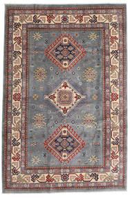 Kazak Matto 196X292 Itämainen Käsinsolmittu Tummanharmaa/Vaaleanharmaa (Villa, Afganistan)