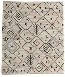 Kelim Moderni Matto 254X289 Moderni Käsinkudottu Vaaleanharmaa/Tummanharmaa Isot (Villa, Afganistan)