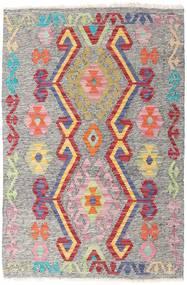 Kelim Afghan Old Style Matto 81X121 Itämainen Käsinkudottu Vaaleanharmaa/Vaaleanvioletti (Villa, Afganistan)