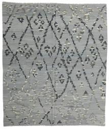Kelim Moderni Matto 257X297 Moderni Käsinkudottu Vaaleanvihreä/Tummanharmaa Isot (Villa, Afganistan)