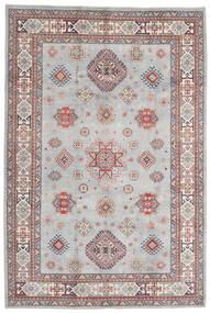 Kazak Matto 198X294 Itämainen Käsinsolmittu Vaaleanharmaa/Valkoinen/Creme (Villa, Afganistan)