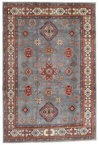 Kazak Matto 194X290 Itämainen Käsinsolmittu Tummanruskea/Vaaleanharmaa (Villa, Afganistan)