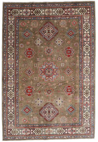 Kazak Matto 197X287 Itämainen Käsinsolmittu Vaaleanharmaa/Tummanpunainen (Villa, Afganistan)