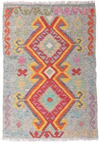 Kelim Afghan Old Style Matto 82X117 Itämainen Käsinkudottu Vaaleanharmaa/Vaaleanpunainen (Villa, Afganistan)