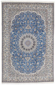 Nain 9La Matto 208X316 Itämainen Käsinsolmittu Vaaleanharmaa/Sininen (Villa/Silkki, Persia/Iran)
