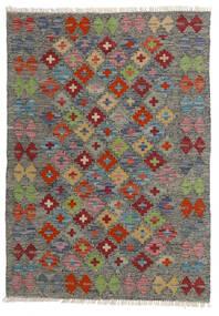 Kelim Afghan Old Style Matto 80X113 Itämainen Käsinkudottu Tummanharmaa/Vaaleanharmaa (Villa, Afganistan)
