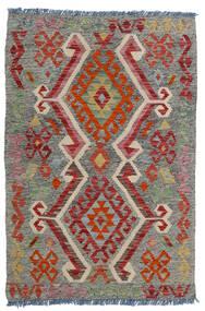 Kelim Afghan Old Style Matto 80X118 Itämainen Käsinkudottu Tummanharmaa/Tummanpunainen/Vaaleanharmaa (Villa, Afganistan)