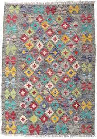 Kelim Afghan Old Style Matto 82X115 Itämainen Käsinkudottu Vaaleanharmaa/Tummanharmaa (Villa, Afganistan)