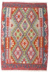 Kelim Afghan Old Style Matto 84X122 Itämainen Käsinkudottu Vaaleanharmaa/Tummanpunainen (Villa, Afganistan)