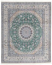 Nain 9La Matto 246X300 Itämainen Käsinsolmittu Vaaleanharmaa/Siniturkoosi (Villa/Silkki, Persia/Iran)