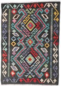 Kelim Afghan Old Style Matto 81X113 Itämainen Käsinkudottu Tummanharmaa (Villa, Afganistan)
