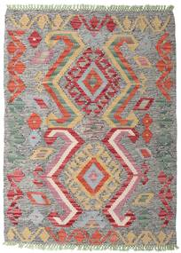 Kelim Afghan Old Style Matto 84X115 Itämainen Käsinkudottu Vaaleanharmaa/Tummanharmaa (Villa, Afganistan)