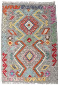 Kelim Afghan Old Style Matto 82X117 Itämainen Käsinkudottu Vaaleanharmaa/Tummanharmaa (Villa, Afganistan)