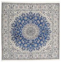 Nain 9La Matto 245X253 Itämainen Käsinsolmittu Neliö Vaaleanharmaa/Beige (Villa/Silkki, Persia/Iran)