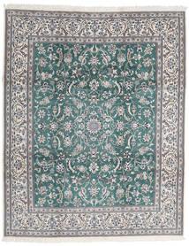 Nain 9La Matto 252X306 Itämainen Käsinsolmittu Vaaleanharmaa/Tummanharmaa Isot (Villa/Silkki, Persia/Iran)