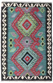 Kelim Afghan Old Style Matto 81X123 Itämainen Käsinkudottu Musta/Vaaleansininen (Villa, Afganistan)