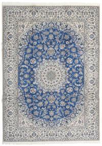 Nain 9La Matto 253X350 Itämainen Käsinsolmittu Vaaleanharmaa/Sininen Isot (Villa/Silkki, Persia/Iran)
