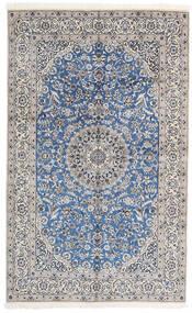 Nain 9La Matto 156X252 Itämainen Käsinsolmittu Vaaleanharmaa/Valkoinen/Creme (Villa/Silkki, Persia/Iran)