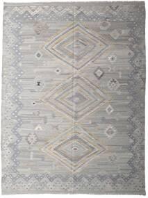 Kelim Moderni Matto 256X335 Moderni Käsinkudottu Vaaleanharmaa/Tummanharmaa Isot (Villa, Afganistan)