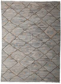 Kelim Ariana Matto 253X342 Moderni Käsinkudottu Vaaleanharmaa/Tummanharmaa Isot (Villa, Afganistan)