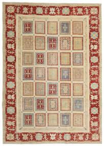 Ziegler Matto 204X288 Itämainen Käsinsolmittu Tummanbeige/Tummanpunainen (Villa, Pakistan)