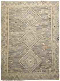 Kelim Ariana Matto 260X342 Moderni Käsinkudottu Tummanruskea/Oliivinvihreä Isot (Villa, Afganistan)