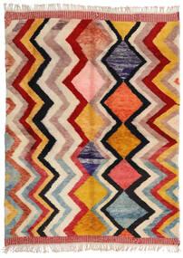 Berber Moroccan - Mid Atlas Matto 220X292 Moderni Käsinsolmittu Beige/Tummanruskea (Villa, Marokko)