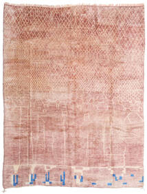 Berber Moroccan - Mid Atlas Matto 305X396 Moderni Käsinsolmittu Vaaleanpunainen/Beige Isot (Villa, Marokko)