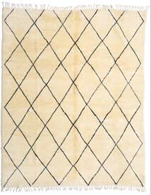 Berber Moroccan - Beni Ourain Matto 280X345 Moderni Käsinsolmittu Beige/Tummanbeige Isot (Villa, Marokko)