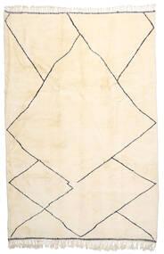 Berber Moroccan - Beni Ourain Matto 212X309 Moderni Käsinsolmittu Beige/Keltainen (Villa, Marokko)