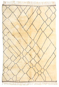 Berber Moroccan - Beni Ourain Matto 206X293 Moderni Käsinsolmittu Beige (Villa, Marokko)