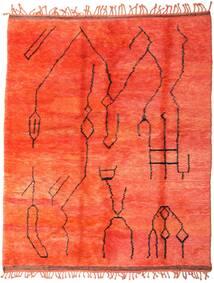 Berber Moroccan - Mid Atlas Matto 238X300 Moderni Käsinsolmittu Punainen (Villa, Marokko)