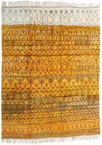 Berber Moroccan - Mid Atlas Matto 302X400 Moderni Käsinsolmittu Keltainen/Beige Isot (Villa, Marokko)
