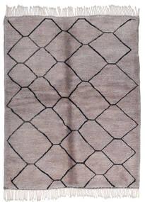 Berber Moroccan - Mid Atlas Matto 164X205 Moderni Käsinsolmittu Tummanruskea/Vaaleanharmaa (Villa, Marokko)