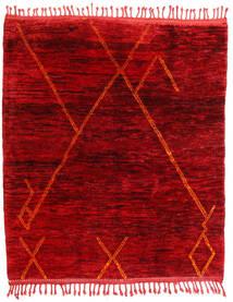 Berber Moroccan - Mid Atlas Matto 172X193 Moderni Käsinsolmittu Tummanpunainen/Punainen (Villa, Marokko)