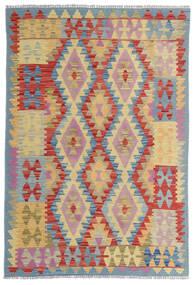 Kelim Afghan Old Style Matto 100X153 Itämainen Käsinkudottu Tummanpunainen/Beige (Villa, Afganistan)