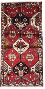 Hamadan Matto 103X207 Itämainen Käsinsolmittu Tummanpunainen/Musta (Villa, Persia/Iran)